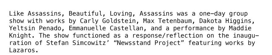 Like assassins text